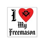 I love my Mason Rectangle Sticker