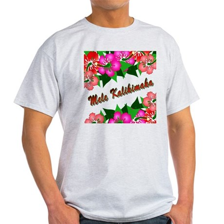 Mele Kalikimaka with flowers Light T-Shirt