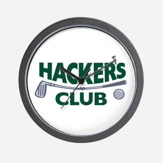 Hackers Club Logo Wall Clock