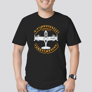 A-37 Dragonfly Men's Fitted T-Shirt (dark)