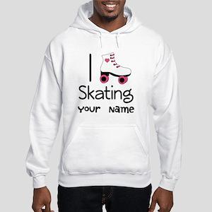 I Love Roller Skating Hooded Sweatshirt