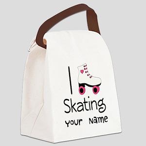 I Love Roller Skating Canvas Lunch Bag
