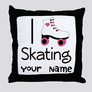 I Love Roller Skating Throw Pillow