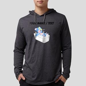 Custom Bear Taking Bath Mens Hooded Shirt