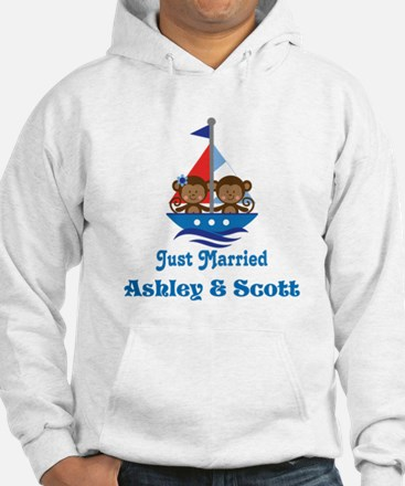 Personalized Just Married Monkeys Hoodie