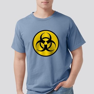 Yellow Biohazard Symbol Mens Comfort Colors Shirt