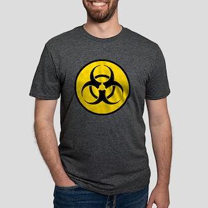Yellow Biohazard Symbol Mens Tri-blend T-Shirt