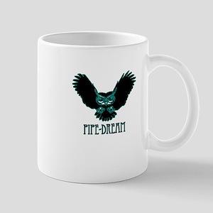 blue pipe dream magical mystical owl occult Mug