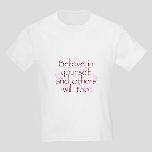 Believe in Yourself V1 Kids Light T-Shirt
