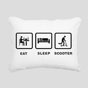 Scooter Riding Rectangular Canvas Pillow
