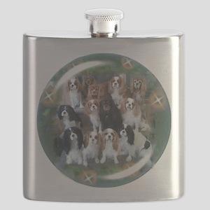 Cavalier King Charles Spaniel Group Flask