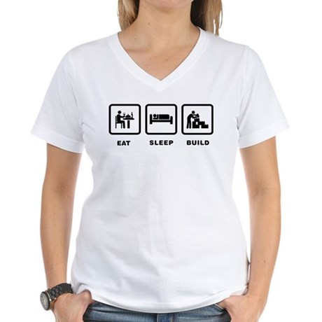 Blocks Building Women's V-Neck T-Shirt