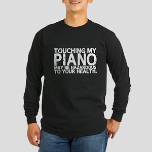 Piano Hazard Long Sleeve Dark T-Shirt