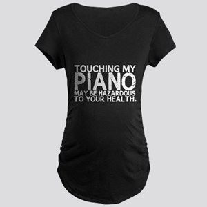 Piano Hazard Maternity Dark T-Shirt