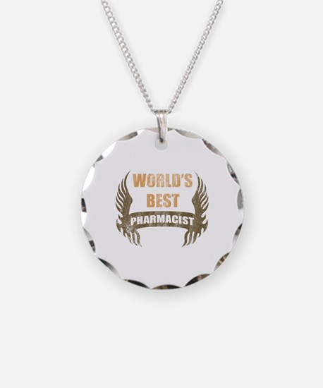 World's Best Pharmacist (Wings) Necklace