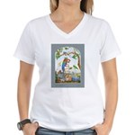 Baggage Poster Women's V-Neck T-Shirt