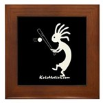 Kokopelli Baseball Player Framed Tile