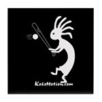 Kokopelli Baseball Player Tile Coaster