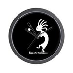 Kokopelli Baseball Player Wall Clock