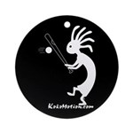 Kokopelli Baseball Player Ornament (Round)