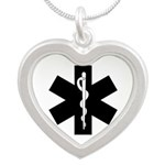 EMS Star Of Life Silver Heart Necklace