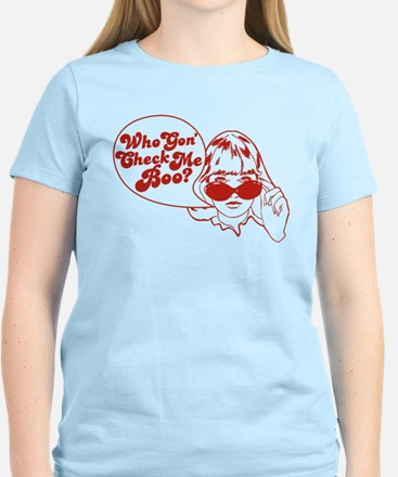 2-Who Gon Check Me Boo-Red T-Shirt