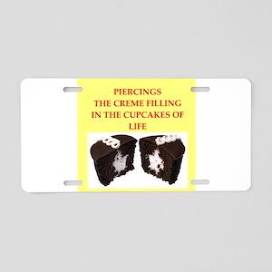 piercing Aluminum License Plate