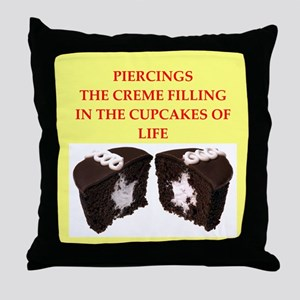 piercing Throw Pillow