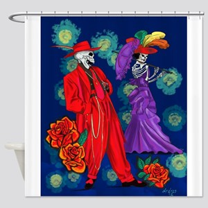 Zoot por Muertos Shower Curtain