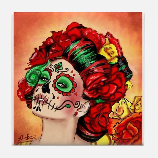 Muertos Amor Tile Coaster