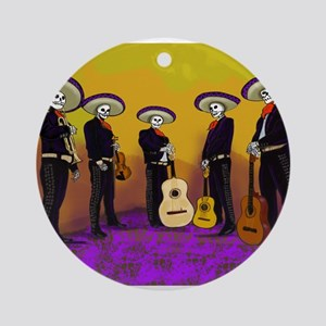 Mariachi Dia de los Muertos Band Ornament (Round)