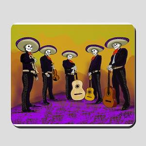 Mariachi Dia de los Muertos Band Mousepad