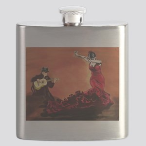 Flamenco Dancer and Guitarist Flask