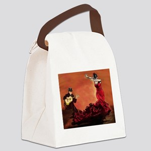 Flamenco Dancer and Guitarist Canvas Lunch Bag