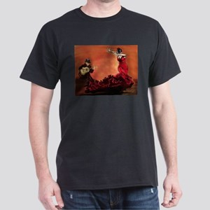 Flamenco Dancer and Guitarist Dark T-Shirt