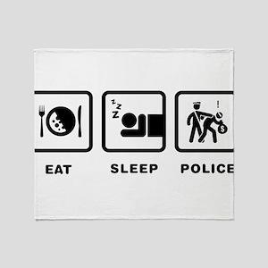 Police Officer Throw Blanket