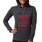 Xmas bull Womens Hooded Shirt