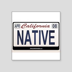 California License Plate Sticker - NATIVE Sticker