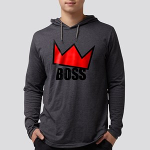 BOSS Red Crown Mens Hooded Shirt