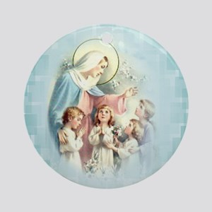 PrayforusOHolyMotherofGod Ornament (Round)