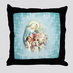 PrayforusOHolyMotherofGod Throw Pillow