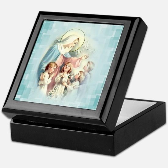 PrayforusOHolyMotherofGod Keepsake Box