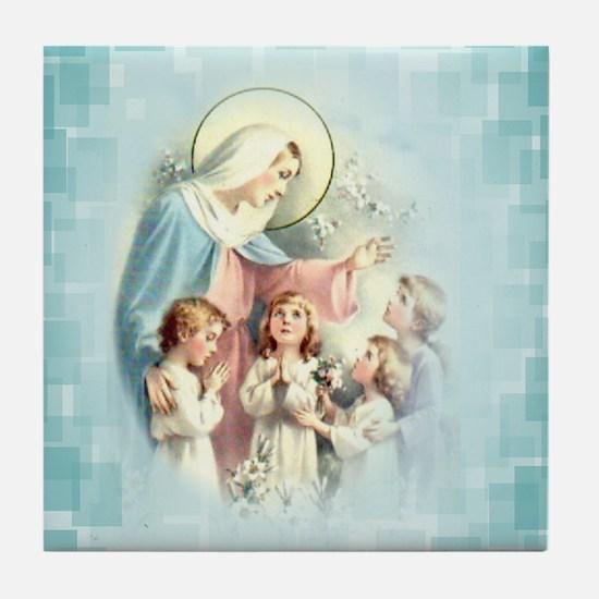 PrayforusOHolyMotherofGod Tile Coaster