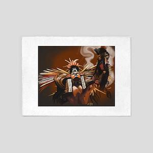 Aztec Dancer - Man 5'x7'Area Rug
