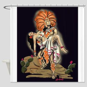 Aztec Warrior and Maiden Shower Curtain