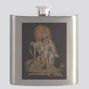 Aztec Warrior and Maiden Flask
