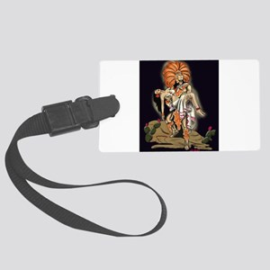 Aztec Warrior and Maiden Large Luggage Tag