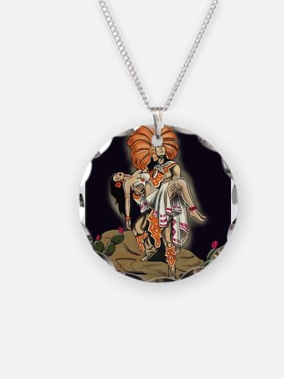 Aztec Warrior and Maiden Necklace