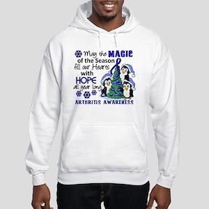 Holiday Penguins Arthritis Hooded Sweatshirt