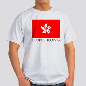 Hong Kong Flag Stuff Ash Grey T-Shirt